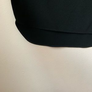 Mossimo Supply Co. Dresses - V Neck Long Sleeve Black Dress High Low hem
